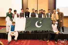 Group of Students Posing With Their Country Flag