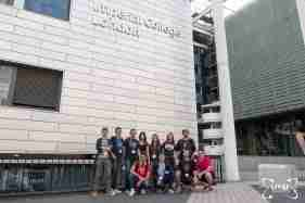 Students Group Posing Outside Imperial College London