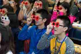 Students Watching 3D Show
